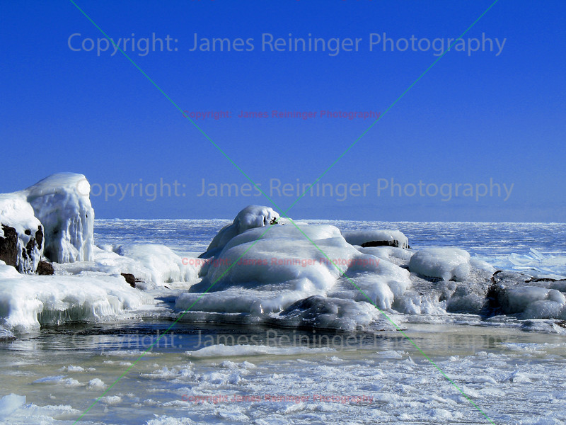 Ice on the shore of Lake Superior