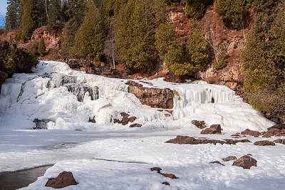 Middle Falls of the Gooseberry River