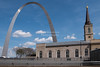 Gateway Arch and the Old Cathedral of Saint Louis