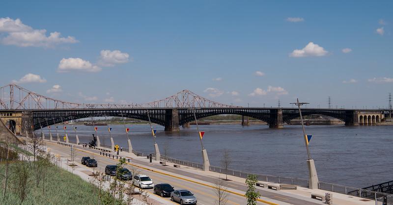 Eads Bridge in St. Louis, Missouri