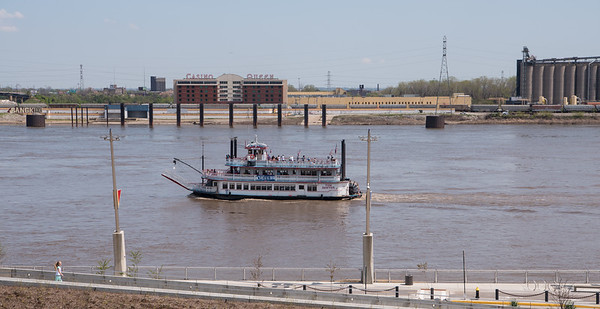 Tourist Boat on the Mississippi River
