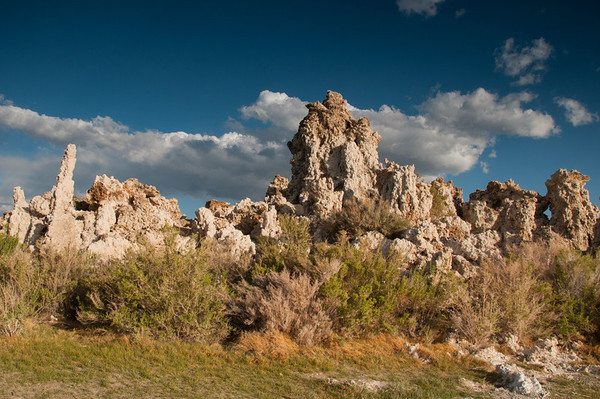Above ground tufa formation