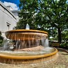 Outside the museum are two seldom noticed fountains. They are my favorite hideaways in DC.