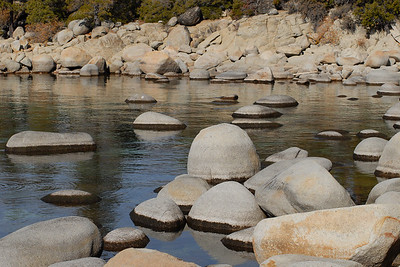 © Joseph Dougherty. All rights reserved.   Lake Tahoe shoreline.