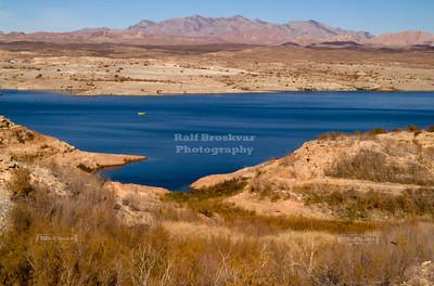Bizarre landscape around Lake Mead, Nevada, USA