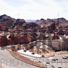 Panorama of the Hoover Dam viewed from Arizona side of the Colorado River border<br /> Nevada, USA