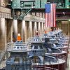 Electrical power generators in the Hoover Dam, Nevada, USA