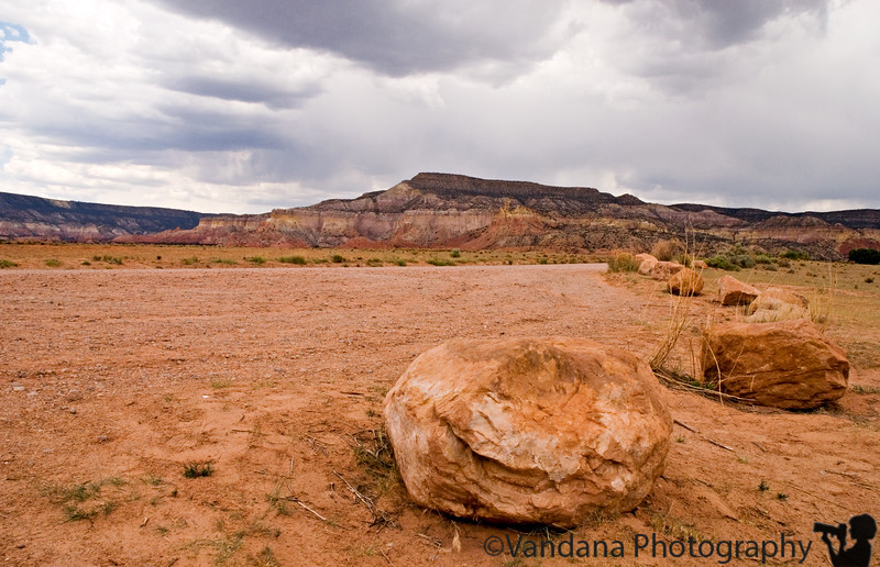 Enroute to Ghost Ranch and some mountains found in many O'Keefe paintings.