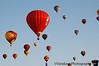 balloons in the Albuquerque sky