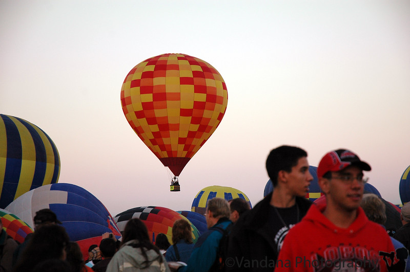 mass ascension - one of the first balloons up