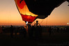 balloon glows in the evening