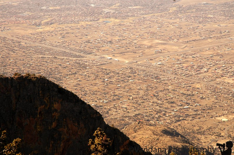 Albuquerque from the top of Sandia Mountains