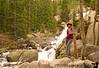 V at Alberta Falls, Rocky mountain national park, CO