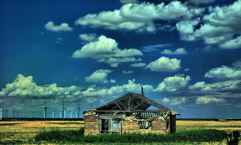 an abandoned barn at San Jon, NM