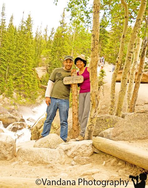 reaching Alberta Falls, Rocky Mountain National park, CO