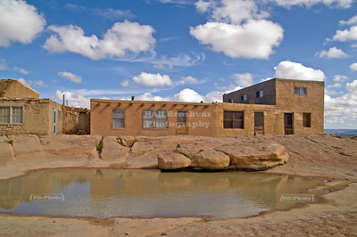 Open surface water hole in Sky City Acoma Pueblo, New Mexico.
