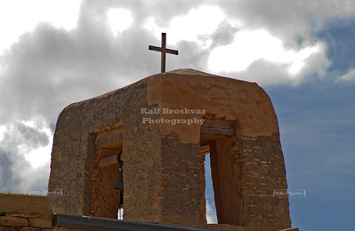 Bell Tower of Mission San Esteban Del Rey in Sky City, the Acoma Pueblo, New Mexico, USA