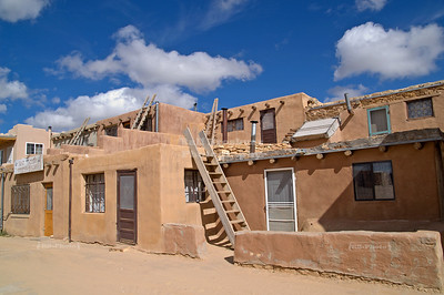 Kivas and ladders in Acoma pueblo, Sky City, New Mexico, USA