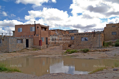 Open surface water hole in Sky City, the Acoma Pueblo, New Mexico, USA