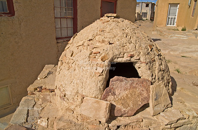 Native American outdoor oven, called hornos, in Sky City, the Acoma Pueblo, New Mexico, USA