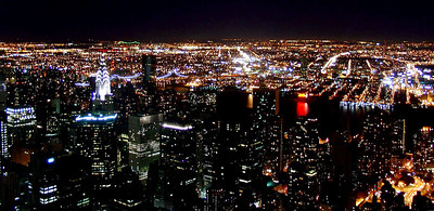 View from the Empire State Building at night