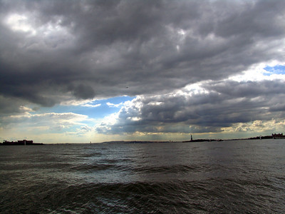 View of Statue of Liberty from Battery Park