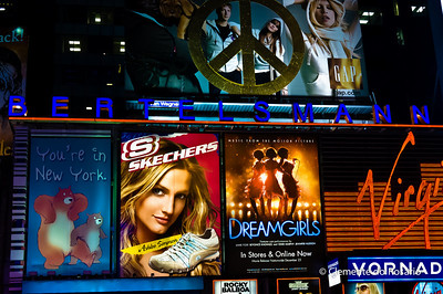 Digital Billboards of Times Square in Manhattan, New York City, USA