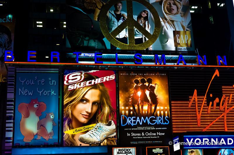 Digital Billboards of Times Square in Manhattan, New York City, USA