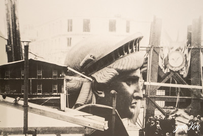 Construction of Statue of Liberty (photo from the museum)