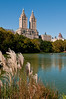 Lake in Central Park during Fall