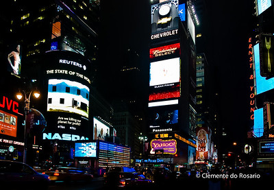 Times Square at night, New York City, USA