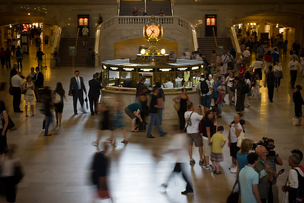 Grand Central with slow shutter speed