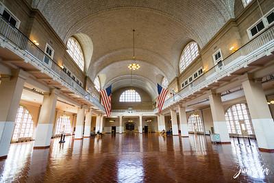 In the Registry Room of Ellis Island