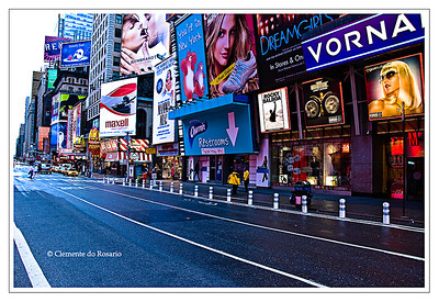 Billboards of Times Square in Mahanttan,  New York City, New York, USA