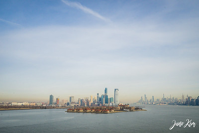 The view from the Statue of Liberty - New York City and Ellis Island