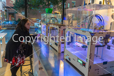"""New York City, NY, USA, American Concept Store, """"Story"""", GE Garages, Hands-on 3-D Printing, Laser cutters and injection molders tools in the Chelsea Area, Manhattan"""