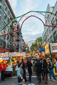 New York, NY, USA, Little Italy Neighborhood, San Genarro Food Festival, Street Scenes, Italian Food Stalls on Mulberry St., Manhattan ,