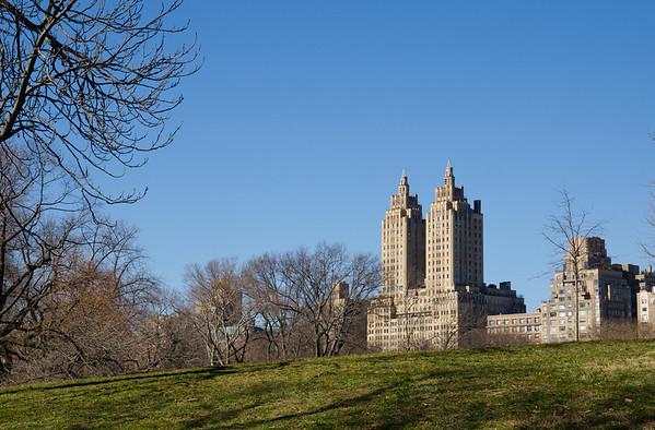 Die Zwillingstürme des San Remo, vom Central Park aus gesehen