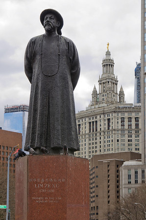 Statue des Lin Zexu in Chinatown, New York