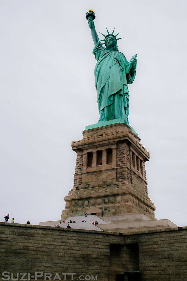 Statue of Liberty in New York City in Fall 2014