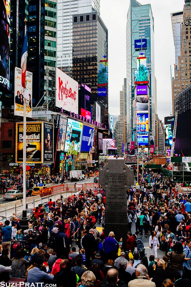 Times Square in New York City in Fall 2014