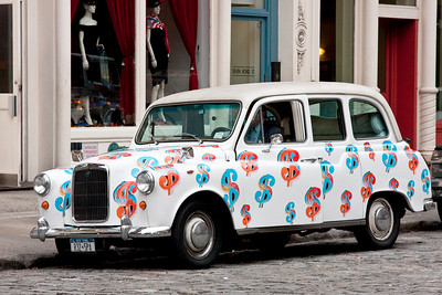 London cab in New York