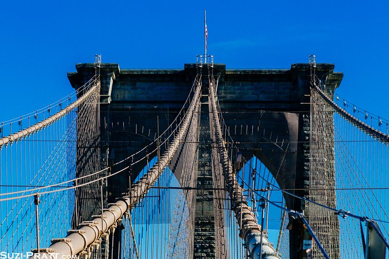 Brooklyn Bridge in New York City in Fall 2014