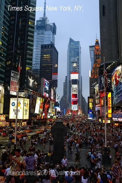 Time Square au crépuscule