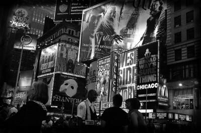 Fin de soiree sur Time Square, New York, USA / End of the evening on Time Square, New York, USA