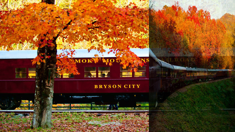 December 3, 2011 - Aboard the Great Smoky Mountains Railroad. <br /> A very short 1 minute video clip of Vandana and Madhu zipping past fall colors on Oct 30.<br /> By k.