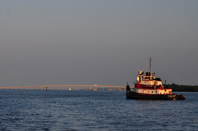 Tug boat in the harbor at Morehead City, NC.  © Joseph W. Dougherty, MD.   All rights reserved.