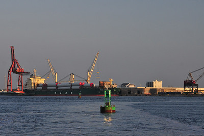 The harbor just after sunrise;  Morehead City, NC.  © Joseph W. Dougherty, MD.   All rights reserved.