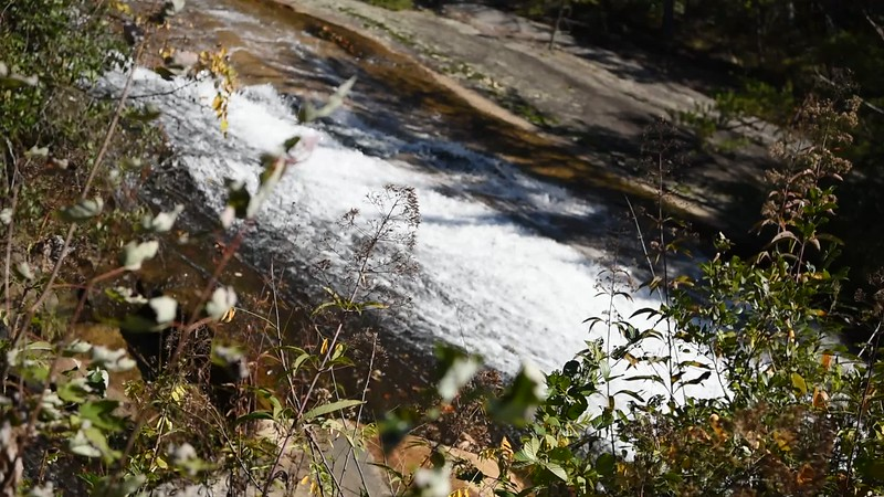 Middle Section of the Stone Mountain Falls, NC
