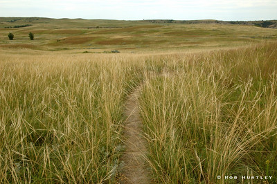 Hiking in Theodore Roosevelt National Park, North Unit in western North Dakota. © Rob Huntley